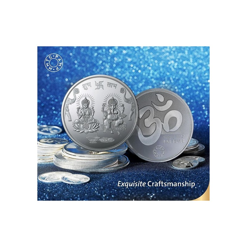 Buy Mmtc Pamp Silver Coin Laxmi Ganesh Of 100 Gram In 999