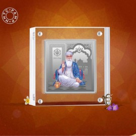 MMTC-PAMP 999.9 Silver Coin Square Shape 50 gm GuruNanak