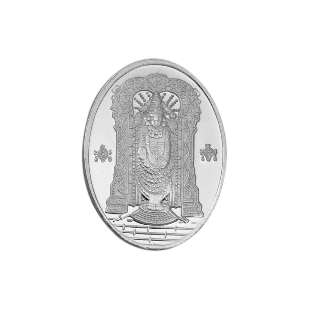 Buy Balaji 20 Gram Silver Coin In Oval Shape In 999 Purity