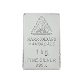 Silver Bar 1 Kg in 999 24Kt Purity Fineness