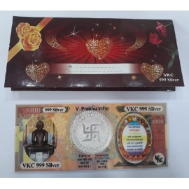 Silver Mahavir Note With 999 Purity