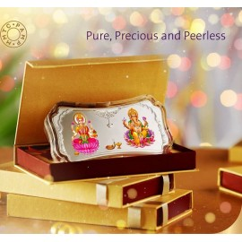 MMTC-PAMP Laxmi Ganesh Silver Coloured Bar of 50 Gram Laxmi-Ganesh in 999.9 Purity / Fineness