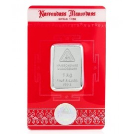 Narrondass Manordass Silver Bar of 1000 grams / 1 Kg in 999 Purity