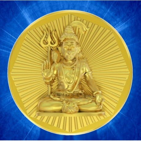 Shiva Panchdhatu Coins Fusion of Gold Silver Copper Tin and Zinc By Gianna Art