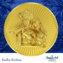 Krishna Panchdhatu Coins Fusion of Gold Silver Copper Tin and Zinc By Gianna Art