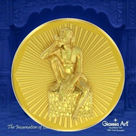 Gajanan Maharaj Panchdhatu Coins Fusion of Gold Silver Copper Tin and Zinc