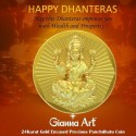 Laxmi Panchdhatu Coins Fusion of Gold Silver Copper Tin and Zinc By Gianna Art