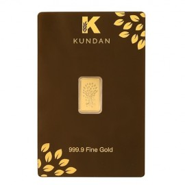 Kundan Kalpataru Tree Gold Bar Of 1 Grams in 24 Karat 999.9 Purity / Fineness