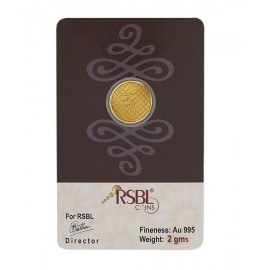 RSBL Gold Coin 2 Grams 24Kt Gold 995 Purity Fineness