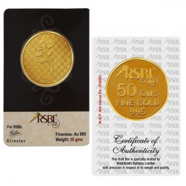 Gold Coin 50 Grams 24Kt Gold 995 Purity Fineness - 50 gm / 50 gms