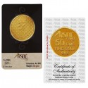 RSBL Gold Coin 50 Grams 24Kt Gold 995 Purity Fineness