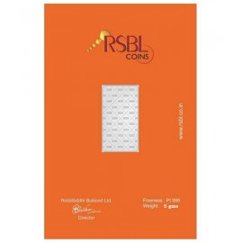 RSBL Platinum Bar Of 5 Gram 999 Purity Fineness