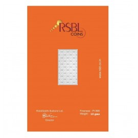 RSBL Platinum Bar Of 10 Gram 999 Purity Fineness