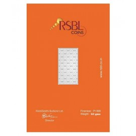 RSBL Platinum Bar Of 50 Gram 999 Purity Fineness