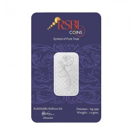 RSBL Silver Bar of 10 Grams in 24Kt 999 Purity Fineness