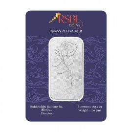 RSBL Silver Bar of 100 Grams in 24Kt 999 Purity Fineness