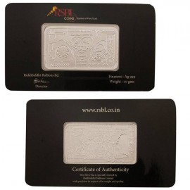RSBL Silver Note of 10 Grams in 24Kt 999 Purity / Fineness