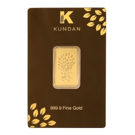 Kundan Kalpataru Tree Gold Bar Of 10 Grams in 24 Karat 999.9 Purity / Fineness
