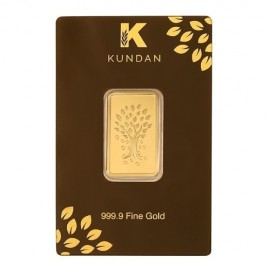 Kundan Kalpataru Tree Gold Bar Of 20 Grams in 24 Karat 999.9 Purity / Fineness