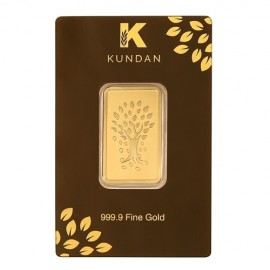 Kundan Kalpataru Tree Gold Bar Of 50 Grams in 24 Karat  999.9 Purity / Fineness