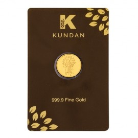 Kundan Kalpataru Tree Gold Coin Of 8 Grams in 24 Karat 999.9 Purity / Fineness