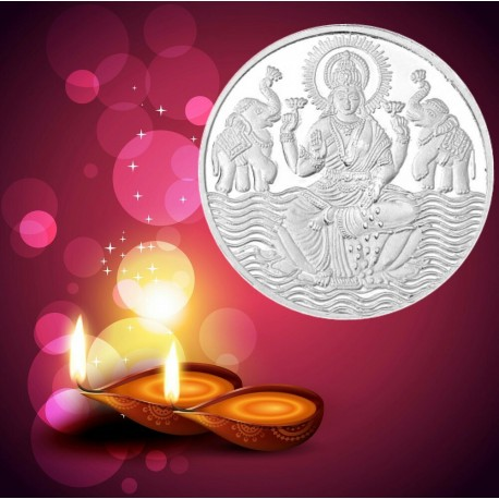 RSBL Shree Lakshmi Silver Coin 5 Grams in 999Putity 24Kt/Fineness