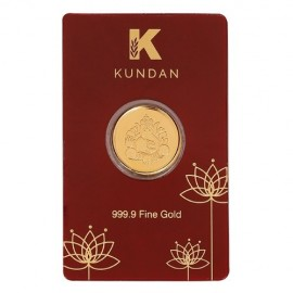 Kundan Ganesha Gold Coin Of 8 Grams in 24 Karat 999.9 Purity / Fineness