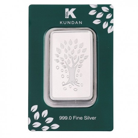 Kundan Kalpataru Tree Silver Bar Of 10 Gram in 999 Purity / Fineness