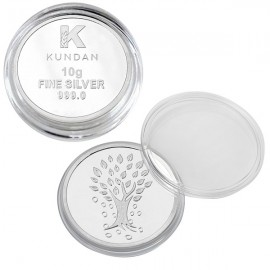 Kundan Kalpataru Tree Silver Coin of 10 Gram in 999 Purity / Fineness