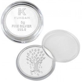 Kundan Kalpataru Tree Silver Coin of 5 Gram in 999 Purity / Fineness