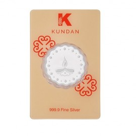 Kundan Diya Silver Coin Of 50 Gram in 999 Purity / Fineness in Certi Card
