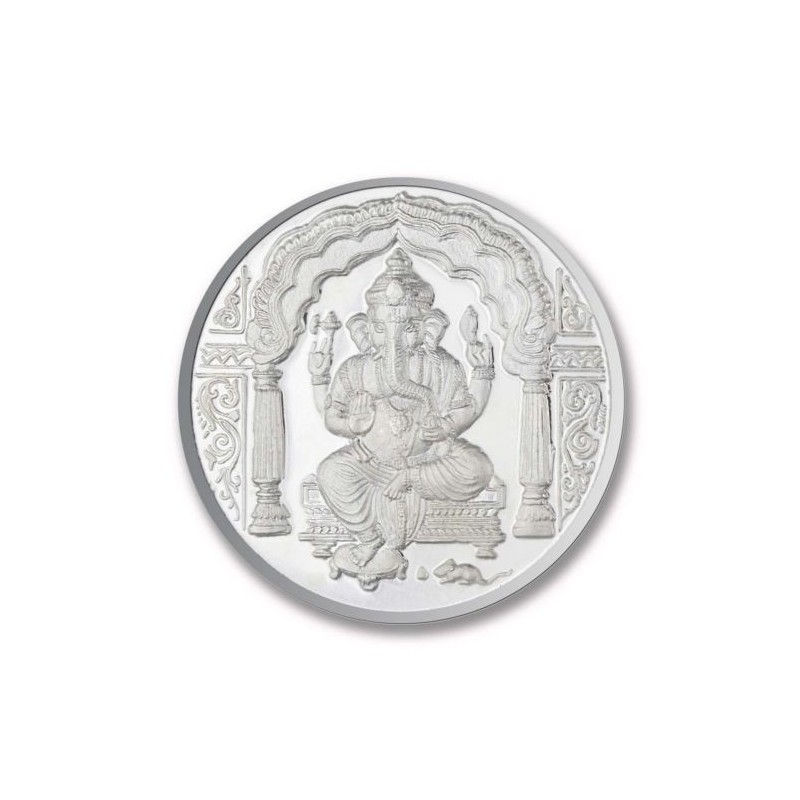 Shree Ganesh Silver Coin Of 10 Gram In 999 Purity