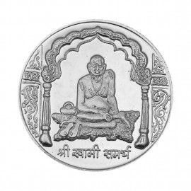 Swami Samartha Silver Coin of 20 Gram in 999 Purity / Fineness