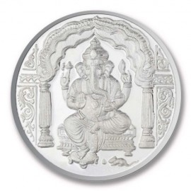 Shree Ganesh Silver Coin of 100 Gram in 999 Purity / Fineness