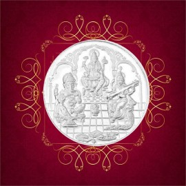 RSBL Silver Coin 20 Grams Trimurti Coin - 20 gm / 20 gms 24Kt Fineness