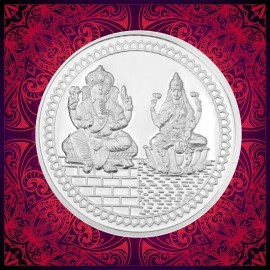 RSBL Lakshmi Ganesh Silver Coin of 100 gm in 999 Purity/Fineness