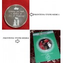 Both Side Printed Picture Round Silver Coin of 20 Gram in 999 Purity - 20 gm / 20 gms