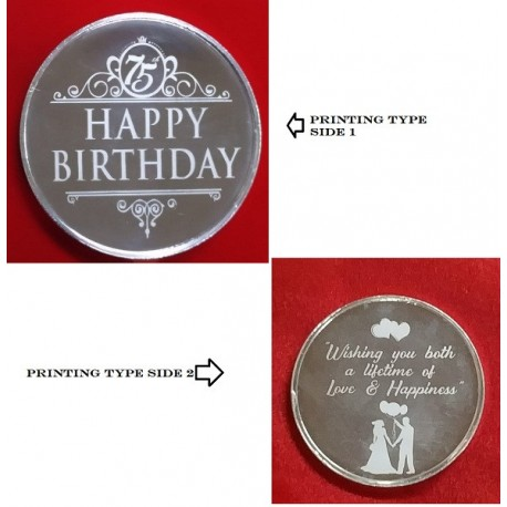 Printed Picture Round Silver Coin of 20 Gram in 999 Purity - 20 gm / 20 gms