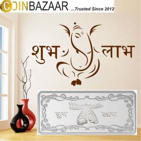 Shubh Labh Silver Note Of 5 Gram in 999 Purity