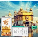 Kundan Color Golden Temple Silver Bar of 20 Gram in 999 Purity / Fineness in Certi Card
