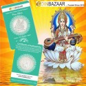 Goddess Saraswati Silver Coin of 5 Gram in 999 Purity / Fineness -by Coinbazaar