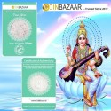 Goddess Saraswati Silver Coin of 25 Gram in 999 Purity / Fineness