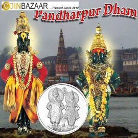 Vitthal Rukmini Silver Coin 10 Gram in 999 Purity / Fineness by Coinbazaar