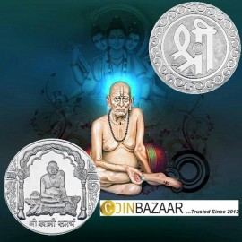 Swami Samartha Silver Coin of 10 Gram in 999 Purity / Fineness