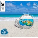 MMTC PAMP The Green Turtle Silver Coin  of Conserve Wild India 2018 Series 1 oz / 31.10 gm 999.9 Purity
