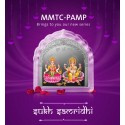 MMTC-PAMP Sukh Samridhi Series Laxmi Ganesh Silver Coloured Coin in Temple Shape of 50 Gram in 999.9 Purity / Fineness