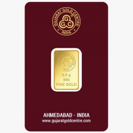 Gujarat Gold Centre Gold Bar Of 2.5 Gram 24Kt in 999 Purity / Fineness