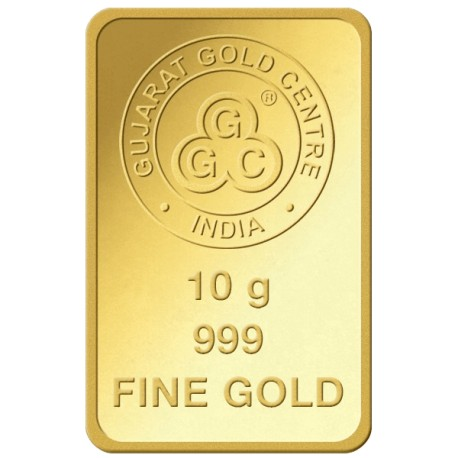 Gujrat Gold Centre Gold Bar Of 10 Gram 24Kt in 999 Purity / Fineness