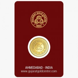 Gujrat Gold Centre Gold Coin Of 1 Gram 24Kt in 999 Purity / Fineness