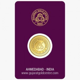Gujrat Gold Centre Gold Coin Of 2.5 Gram 24Kt in 999 Purity / Fineness